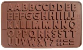 Csokibetű forma, szilikon (28046)