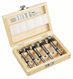 Bosch 5 részes Forstner fúró készlet fadobozban (2607018395)