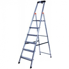Krause Monto Safety állólétra 6 lépcsőfokos  (126344)