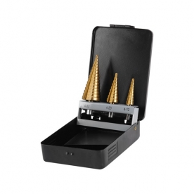 Extol Craft lépcsős fémfúró készlet 3db (4-12 mm, 4-20 mm, 4-32 mm) (20090)