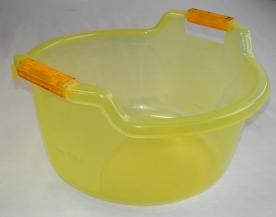 Fogantyús műanyag lavór, 20 l, sárga