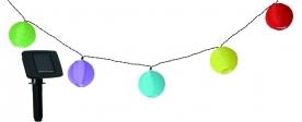 Home színes lampionfüzér, napelemes MX 202