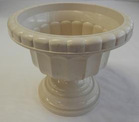Görög váza, 21 cm, drapp, környezetbarát anyagból