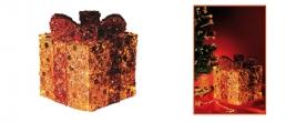 Home világító doboz, arany-piros 15 cm (KBX 15/G)