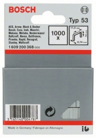Bosch finomhuzal-kapocs 53-as típus - 11,4 x 0,74 x 14 mm (1609200368)