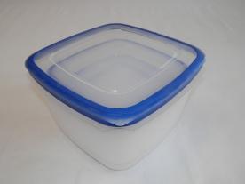 Magas műanyagdoboz szett, négyzetalapú 4 db kék