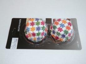 Muffinpapír virágos 100 db, nagy (72101-4)