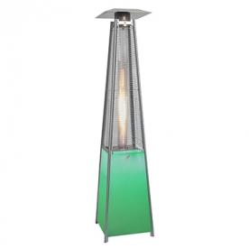 Teraszfűtő piramis LED világítással BFH-A-LED