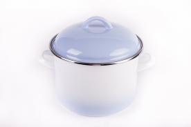 Bonyhádi zománcozott fazék + fedő kék árnyalt 16 cm
