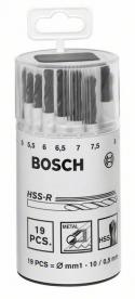 Bosch HSS-R fémfúró készlet 19 részes műanyag dobozos (2607018355)