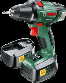 Bosch PSR 18 LI-2 kétfokozatú akkus fúrócsavarozó, 2 db akkuval (0603973324)