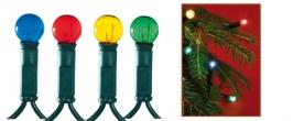 Home áttetsző gömb izzós fényfüzér, színes (KI 60/BT)