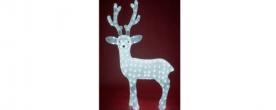 Home LED-es rénszarvas dekoráció, akril 83 cm (KDA 4)