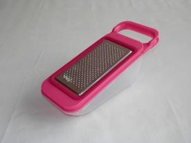 Citromhéj reszelő műanyag tárolóval, pink
