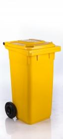 Háztartási szemetes kuka sárga 120 L (11909)