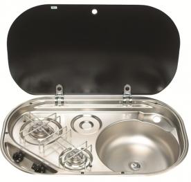 Dometic beéípthető gázfőzőlap + mosogató MO8322R, PB-gáz üzemű