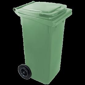 Háztartási szemetes kuka zöld 120 L (11953)