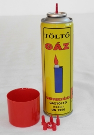 Gáz utántöltő 250 ml + 5 átalakító