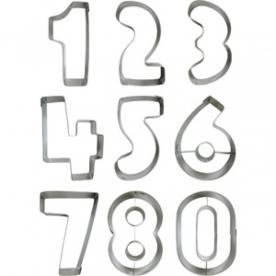 Számok sütikiszúró szett 9 db (28069)