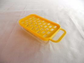 Tálcás  műanyag almareszelő sárga