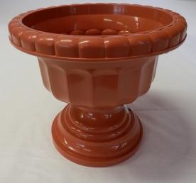 Görög váza, 25 cm, terrakotta műanyag