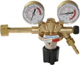 Iweld Dynareg hidrogén palack nyomáscsökkentő 230/10 bar, 2 manométerrel