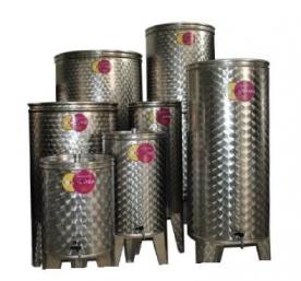 Pálinkatartály rozsdamentes 100 l-es csappal (PP100)
