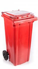 Háztartási szemetes kuka piros 120 L (11911)