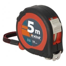 Extol mérőszalag 2 stoppos 5mx19mm, gumis (3155)