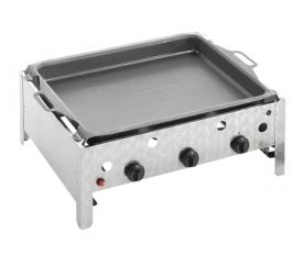 Landmann háromégős asztali gázgrill acél serpenyővel (004413)