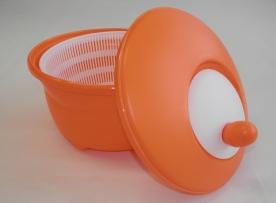 Salátacentrifuga narancsszín műanyag