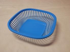 Kenyérkosár, műanyag 25x25 cm világoskék
