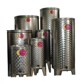 Bortartály rozsdamentes 500 l-es 2 csappal (P500L2)
