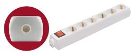 Home szerelhető földelt elosztó kapcsolóval, 6- os (NV 06K)