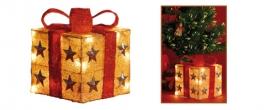 Home világító doboz, piros- arany 15 cm (KBX 15/RD)