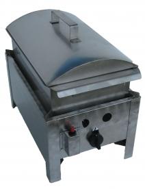 BGT-1 egyégős asztali kukorica főző rozsdamentes tálcával és fedővel, PB-gáz üzemű