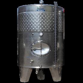 Inox 2000 l-es bortartály, úszófedeles, paraffinos, 4 csappal (Zottel) (10475)
