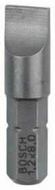 Bosch Extra kemény Bit, S 1,2x8,0, 25 mm, 3 db (2607001468)