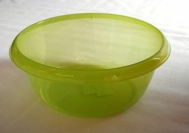 Körtál műanyag 28 cm almazöld átlátszó