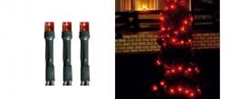 Home LED-es fényfüzér piros, kültéri (LED 208/RD)