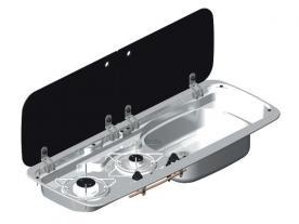 Dometic beépíthető gázfőzőlap + mosogató MO9222R, PB-gáz üzemű