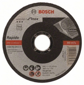 Bosch Darabolótárcsa egyenes Standard for Inox, AS 46 T INOX BF, 115 mm (2608603169)