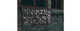 Home LED-es fényfüggöny hidegfehér, sorolható kültéri (KTF 100/WH)