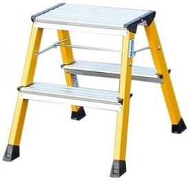 Krause Monto Rolly fellépő gurítható összecsukható lépcsőfokos sárga  (130044)