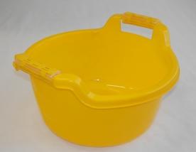 Fogantyús műanyag lavór, 10 l, sárga