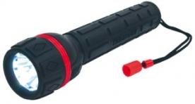Home vízálló elemlámpa piros (PLR 03)