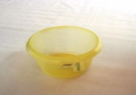 Körtál műanyag 20 cm sárga átlátszó