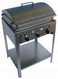 BGS-3 háromégős álló kukorica főző rozsdamentes tálcával és fedővel, földgáz üzemű