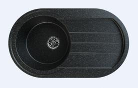 Gorenje Siligor KVE KM-4 gránit mosogatótálca, fekete szemcsés