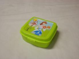 Szendvicstartó műanyag doboz, hercegnős almazöld